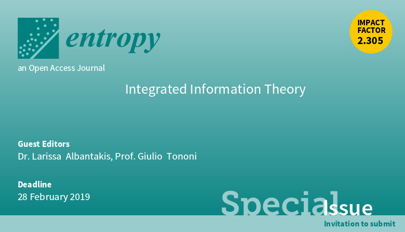 Call for papers for a Special Issue in Entropy: Integrated Information Theory