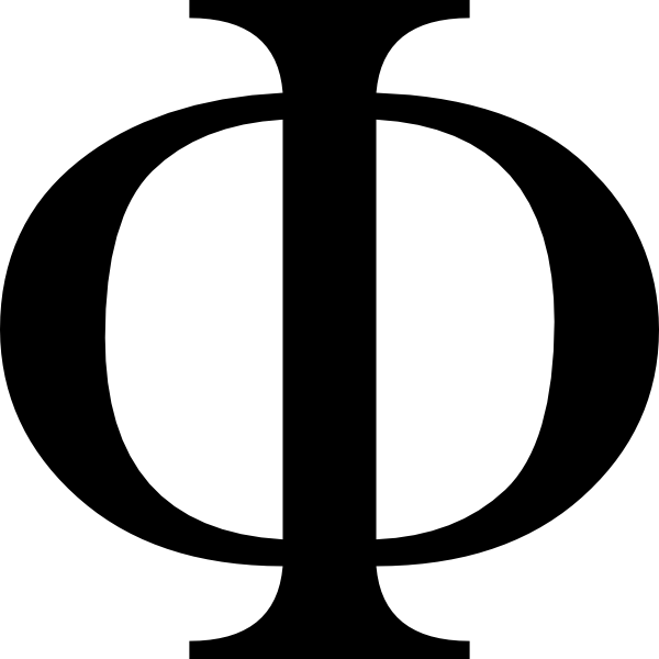 Greek letter Phi (symbol for integrated information)